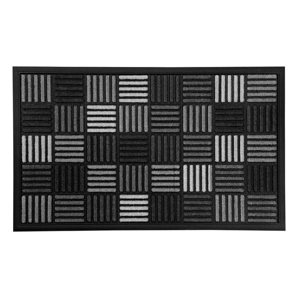 Sparrow Decor- (Grey) Modern Poly-amide Rubber Outdoor Mat(18 X 30 Inch)