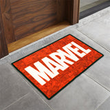 Marvel- (Red/White) Modern Synthetic Indoor Mat(40 X 60 Cm)