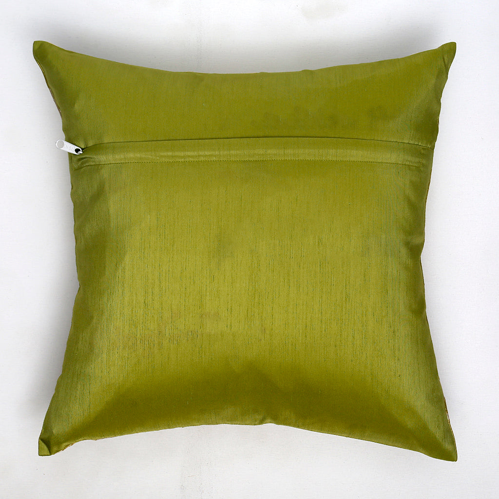 Polyester Text print cushion cover(Green)
