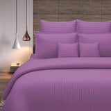 Solid (Lavender) Stripes Only Duvet Cover(60 X 90 Inch)-Cotton/Satin