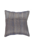 Art Silk hand embroidered Cushion Cover(Blue-Grey)