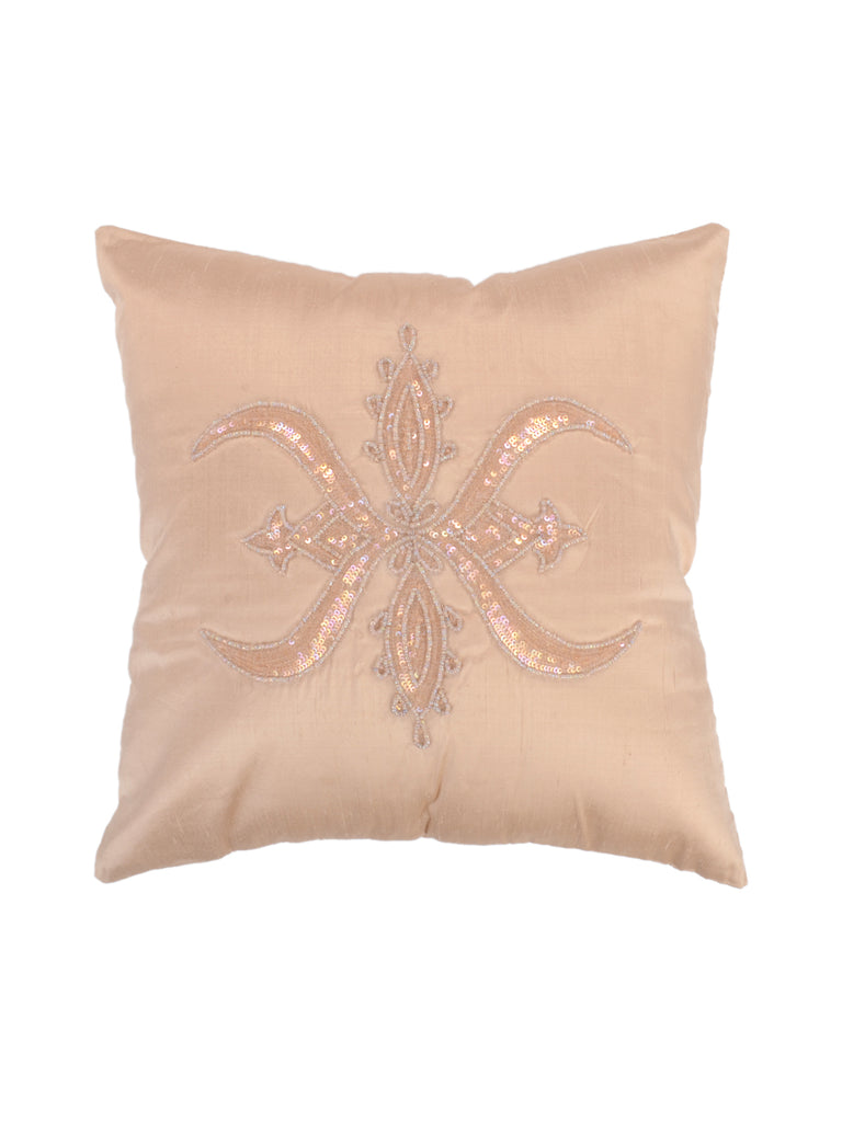 Sequence Work-Dupion Silk Cushion Cover(Beige)