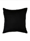 Embroidered-Dupion Silk Cushion Cover(Beige-Black)