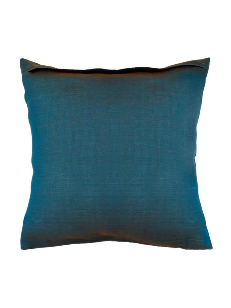 Sequence- Dupion Silk Cushion Cover(Blue)
