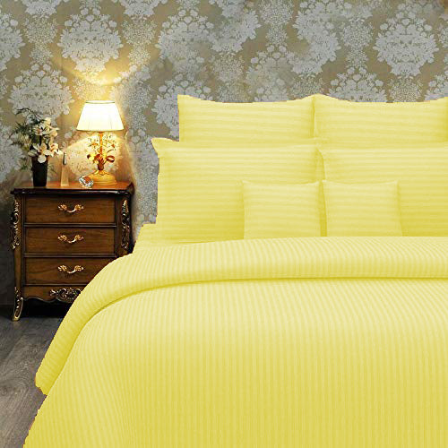 Solid Yellow(60 X 90 Inch) Set -(2 bedsheet+ 2 Pillow Cover)