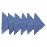 (Blue) Plain Cotton Napkin Set-8 Pcs(16 x 16 Inch)