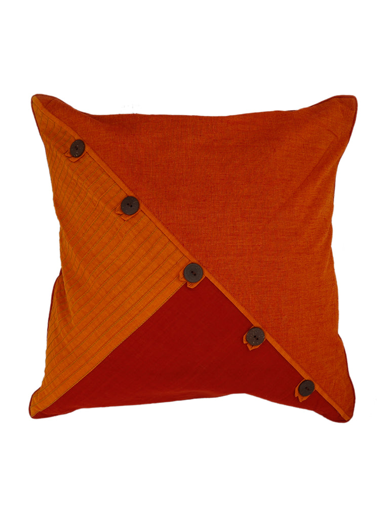 Loop+Button-Cotton Cushion Cover(Multicolor)