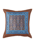 (Blue/Maroon)Brocade- Silk Cushion Cover
