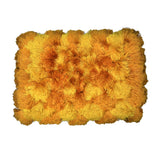 (Yellow/Orange) Modern Polyester Fur Indoor Mat(40 X 60 Cm)