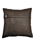 (Grey)Lurex Gold- PolyCotton Cushion Cover