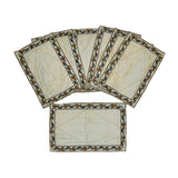 (Cream) Embroidery Table Mat-Silk(7 PCS Set)