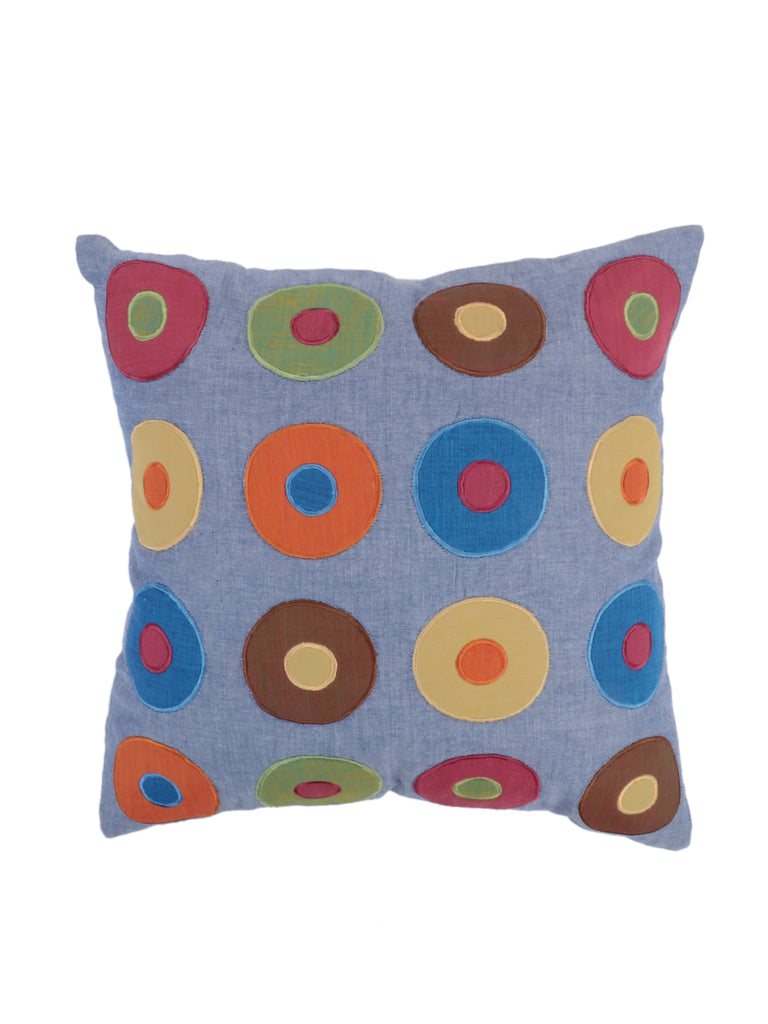 Patch Work-Cotton (Grey) Cushion Cover
