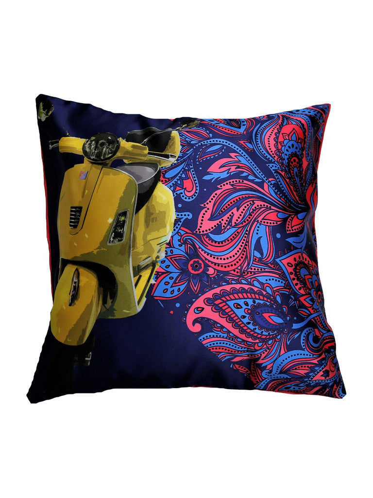 Reversible (Multi) Printed- Polyester Cushion Cover