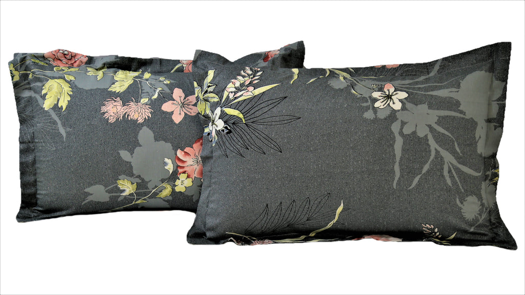 Printed- Cotton Pillow Cover(18x27 Inch)-2Pcs