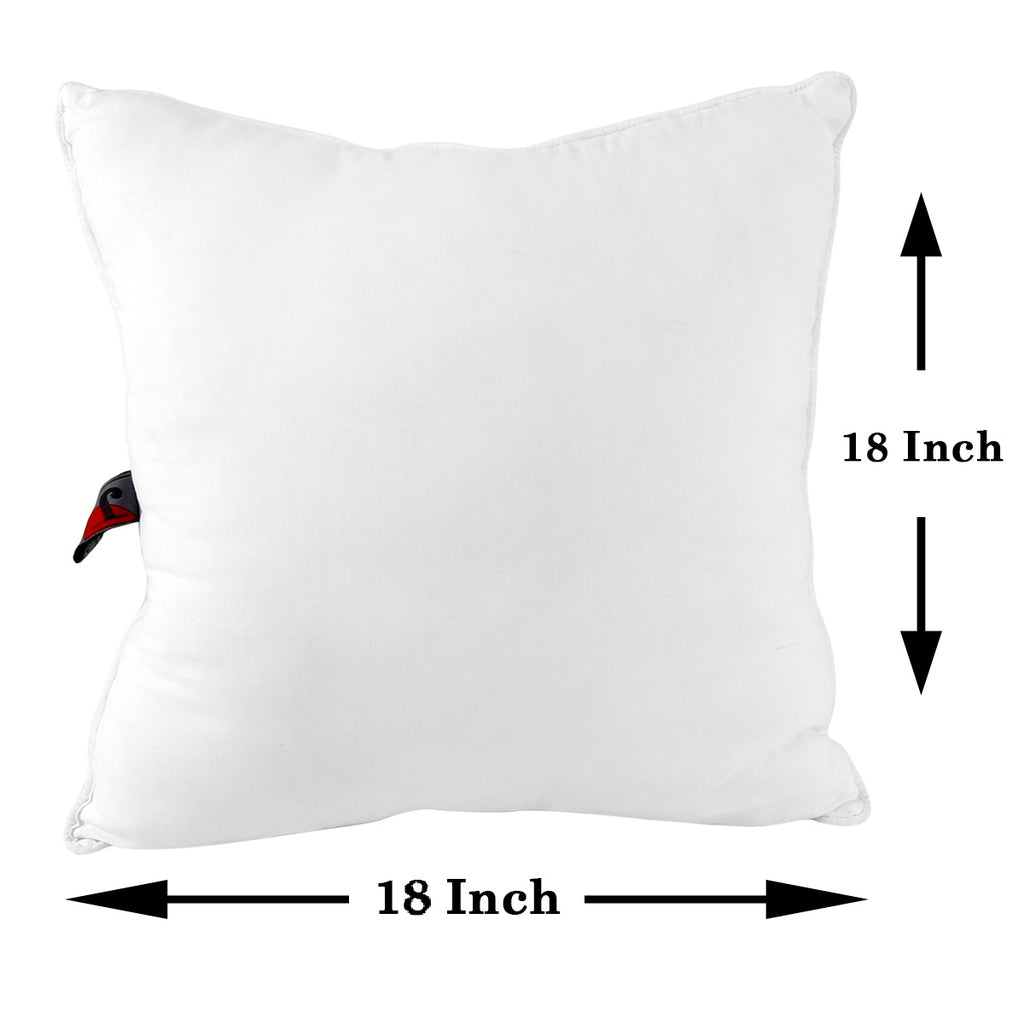 (White)Cushion Filler Square Design -Polyfill(18x18 Inch)
