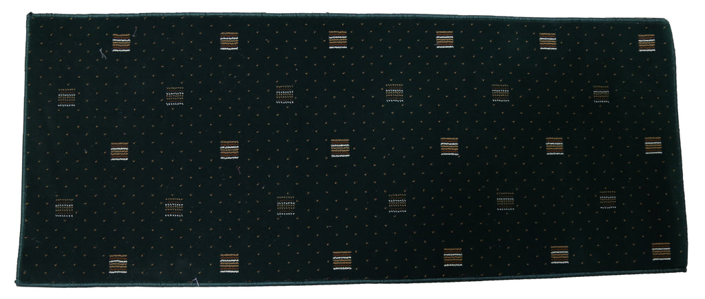 (Green) Modern Synthetic Bed Side Runner(61 X 156 Cm)