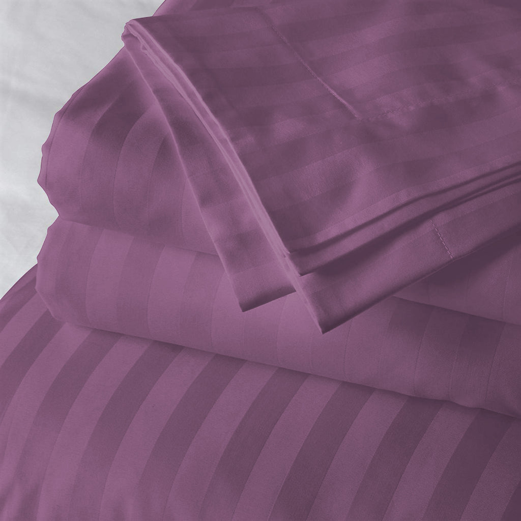 Solid Purple(60 X 90 Inch) Set -(2 bedsheet+ 2 Pillow Cover)