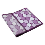 Polka(Purple) Cotton Bath Door Mat(50 X 76 Cm )