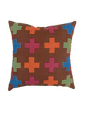 Patch Work-Cotton Cushion Cover(Brown)