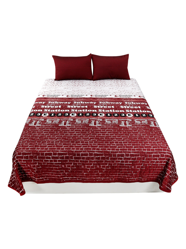 Cotton BedCover Set-(1 bedcover+ 2 Pillow Covers)
