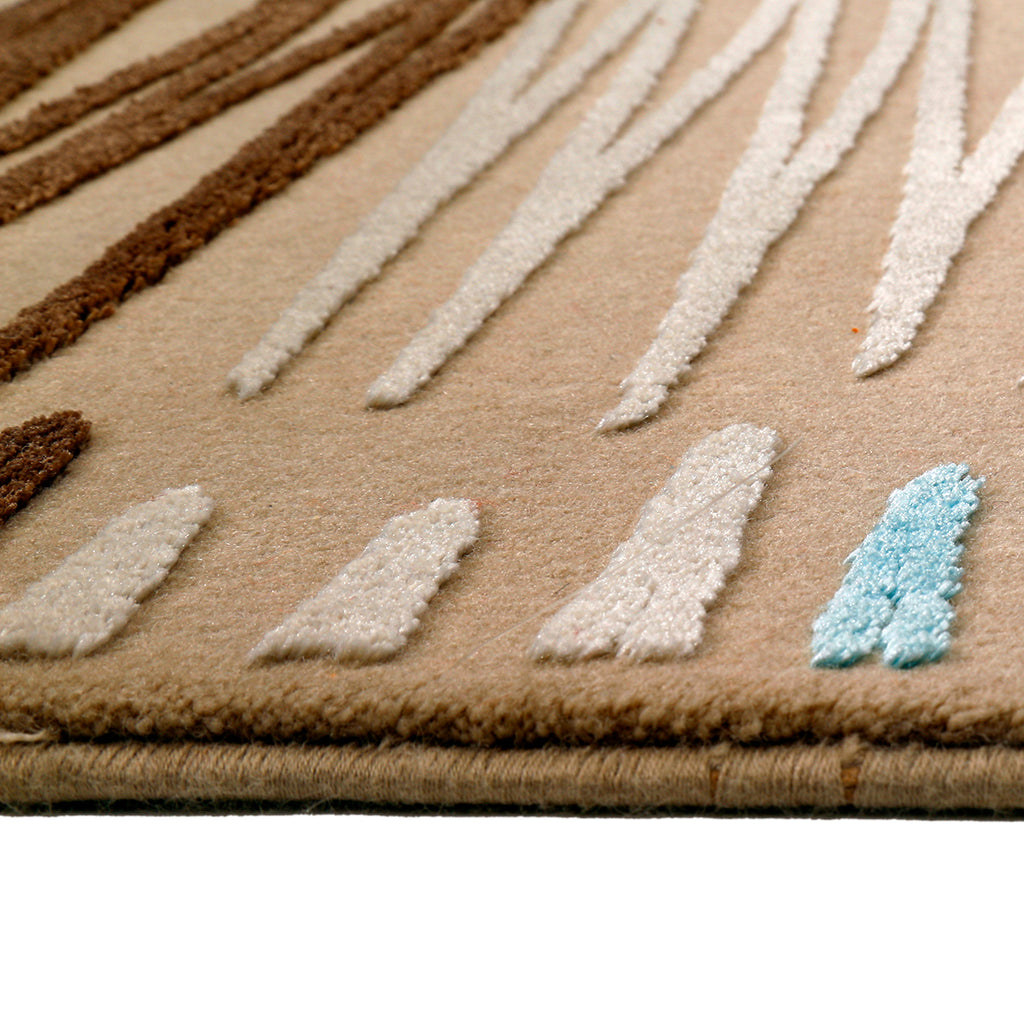 Creative- (Beige) Modern Synthetic Carpets(80 X 150 Cm)