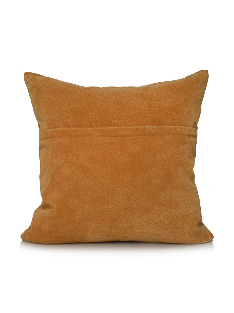 Motifs-Suede Cushion Cover(Mustard)