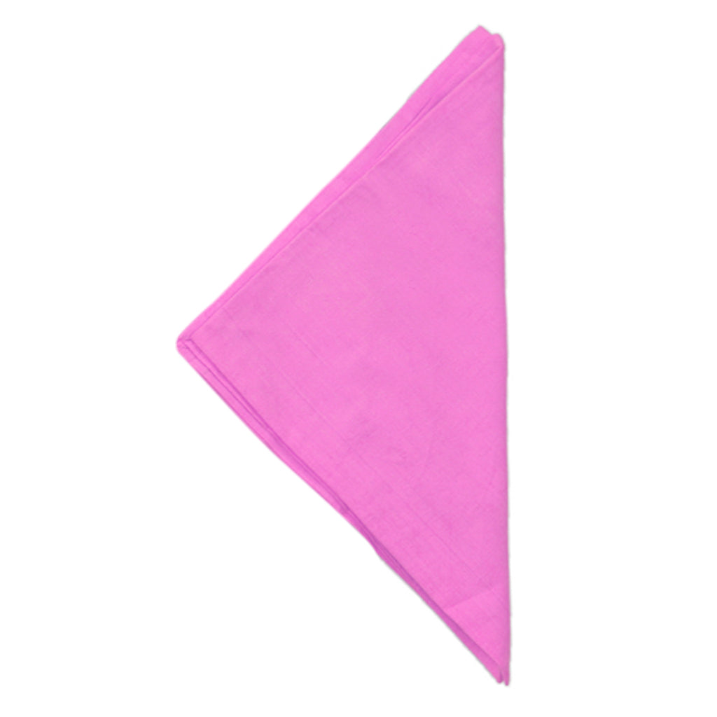 (Pink) Plain Cotton Napkin Set-6 Pcs(20x20 Inch)