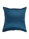 Embroidery-Dupion Silk Cushion Cover(Blue)