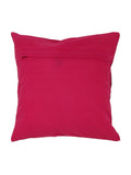 (Magenta/Pink)Embroidery- Dupion Silk Cushion Cover