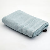 (Aqua Green) Plain Cotton Bath Towel(27 X 54 Inch)