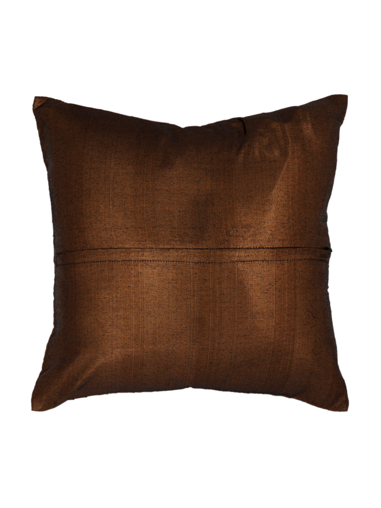 Water Filling Stitch-Shimmer Cushion Cover(Brown)