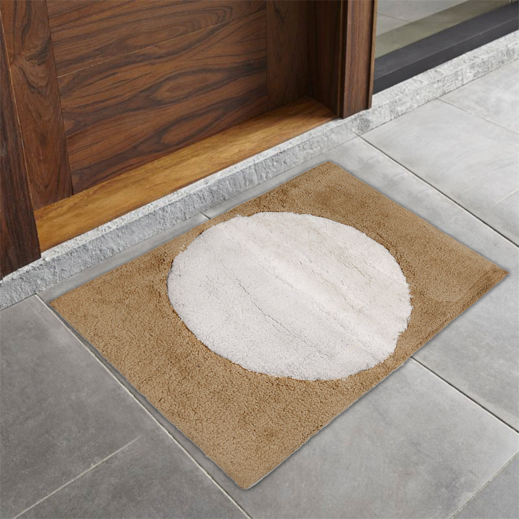 (Beige) Modern Cotton Bath Door Mat(40 X 60 Cm )