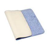 (Sky Blue) Plain Cotton Bath Door Mat(50 X 70 Cm )