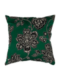Patch work-Art Silk Cushion Cover(Green)