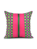 (Green/Magenta)Banarsi -Dupion Silk Cushion Cover