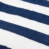 Blue Striped Cotton Bath Towel(36x72 Inch)