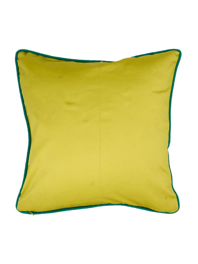Embroidery-Satin Cushion Cover(Multicolor)