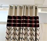 (Maroon) Curtain Self Design- Polyester(7 X 4 Feet)