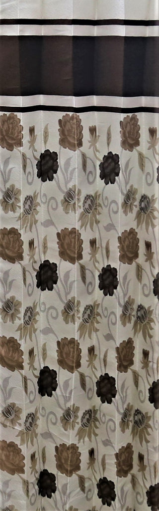(Coffee) Curtain Self Design- Polyester(7 X 4 Feet)