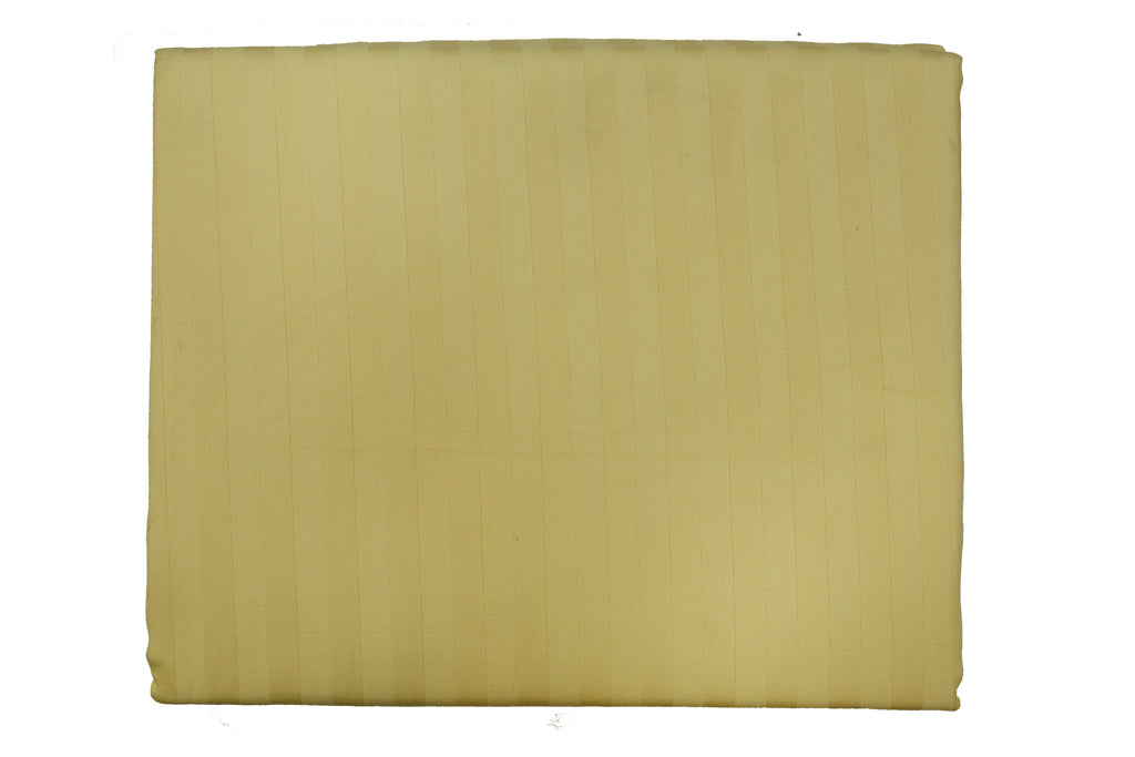 Solid Golden 108 X 108 Inch Bedsheet Set -(1 bedsheet+ 2 Pillow Covers)