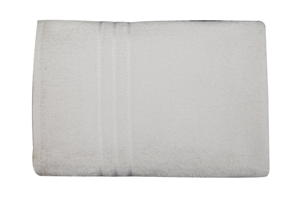 White Cotton Bath Towel Plain(30 X 60 Inch)