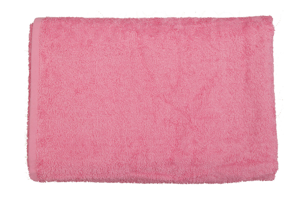 Pink Cotton Bath Towel Plain(30 X 60 Inch)