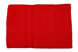 Red Cotton Bath Towel Plain(30 X 60 Inch)