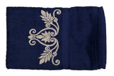 Dark Blue Cotton Bath Towel Plain(30 X 60 Inch)