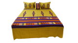 Big Boota Design Poly Silk BedCover Set-(1 bedcover+ 2 Pillow Covers + 2 Cushion Covers)