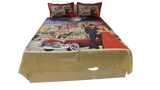 Digital Print Design Cotton-Satin BedCover Set-(1 bedcover+ 2 Pillow Covers)