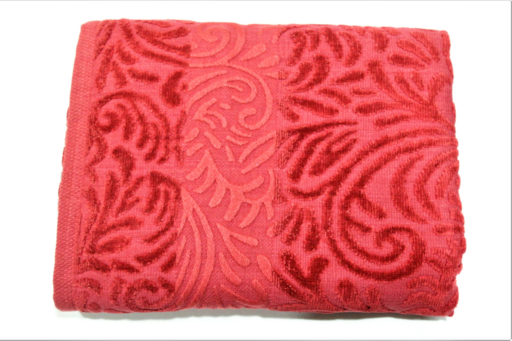 (Maroon) Self Cotton Bath Towel(30 X 60 Inch)