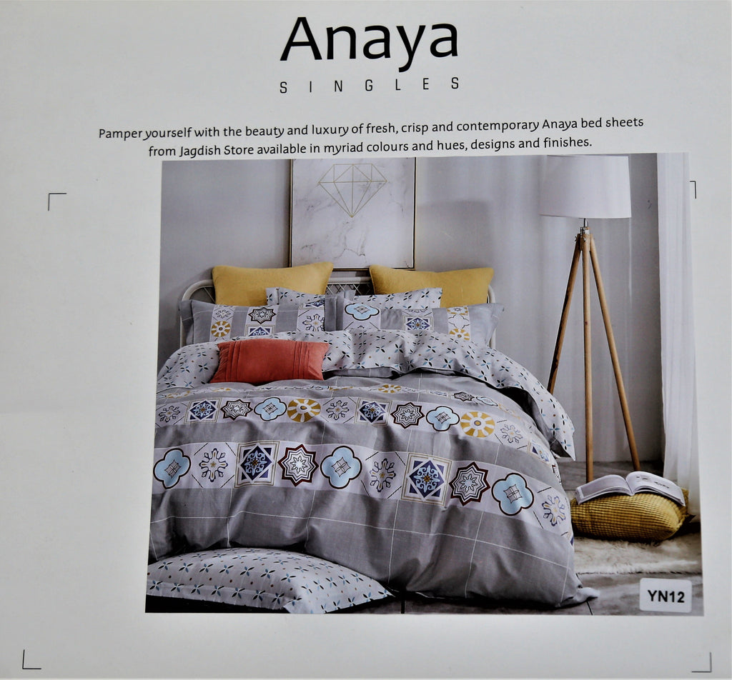 Yana Printed Cotton Bedsheet(60 X 90 Inch) Set -(2 bedsheet+ 2 Pillow Cover)