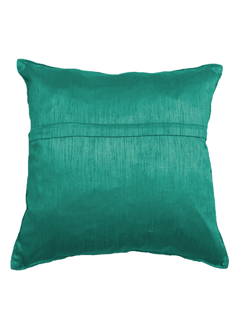 (Turquoise)Embroidery- Polyester Cushion Cover