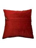 (Red)Patch Work- Velvet Cushion Cover